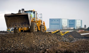 Earthworks at Hinkley Point C nuclear power