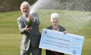 Richard and Angela Maxwell, who have landed the 10th biggest National Lottery win ever, after scooping more than £53m.