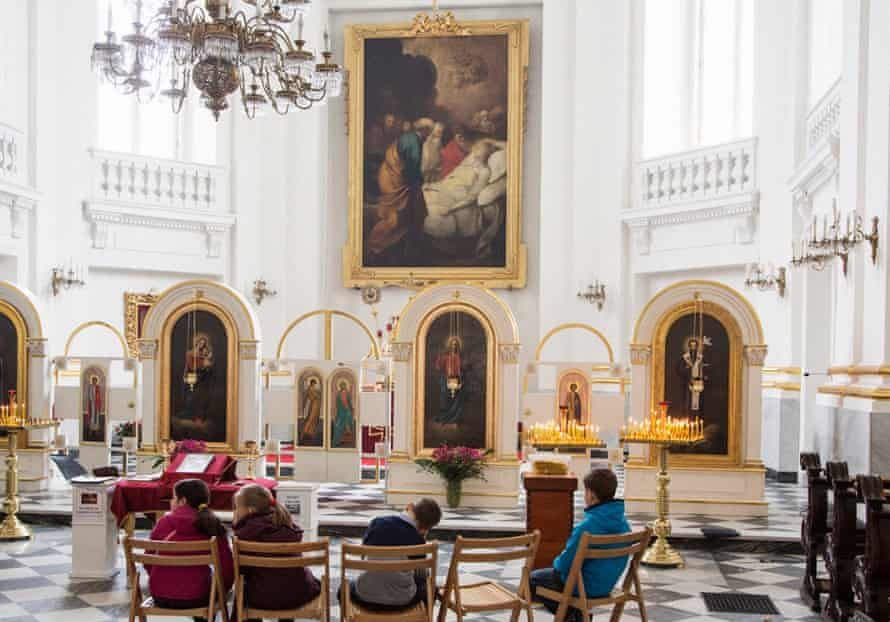A class in the Greco-Catholic church in Warsaw.