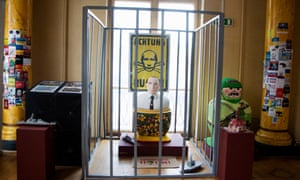 An anti-Putin installation inside the Ukrainian World museum and community centre.
