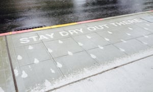 Rainworks installation in Seattle