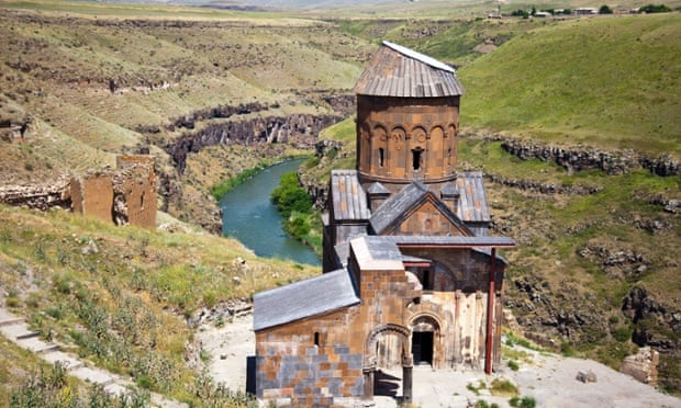 The ruined church of Saint Gregory in Ani, Turkey.