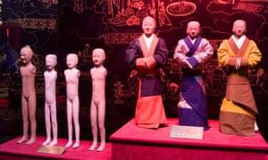 Terracotta figures at Han Yang Ling Museum.