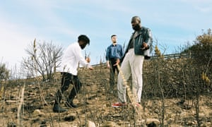 Young Fathers on top of Signal hill in Cape Town.