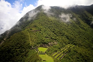 Choquequirao is a ruined Inca city in south Peru