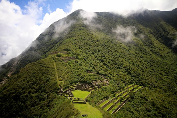 Choquequirao is a ruined Inca city in south Peru