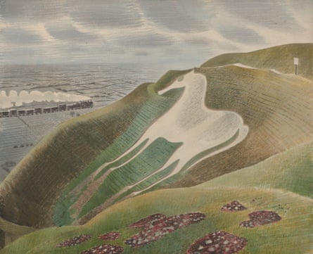 The Westbury Horse, 1939 by Eric Ravilious.