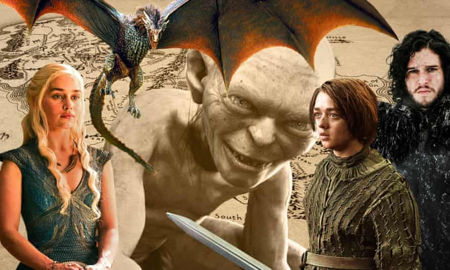 Game of Thrones and The Lord of the Rings ... the rise and rise of fantasy fiction.