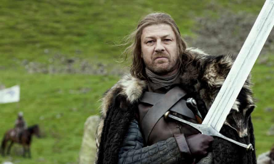 Sean Bean as Eddard Stark in Game of Thrones ... the closest the series has to a hero.