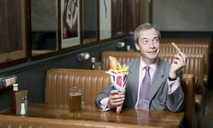 'Whatever my faults, I have some principles': Nigel Farage with a few of his favourite things.