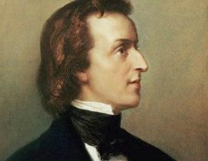 A portrait of Frédéric Chopin.