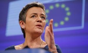 Margrethe Vestager has begun updating evidence against Google.