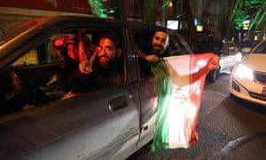 Tehran celebrates iran nuclear talks agreement