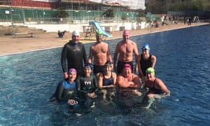 Swimmers join Sally at Parliament Hill lido for her penultimate swim