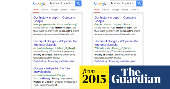 Google hides URLs in mobile web search results | Technology