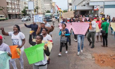 Mozambique protest