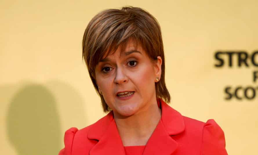 Nicola Sturgeon launches the SNP's manifesto
