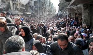 Syria Palestine refugee camp