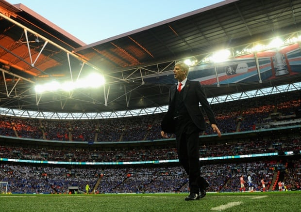 Arsène Wenger reacts during Arsenal's FA Cup semi-final win over Reading.