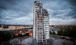 The last months of the Plean Sreet high rise flats in Glasgow in 2010.
