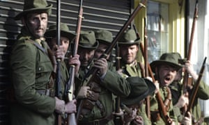 Events to commemorate the 1916 Easter Rising took place throughout Ireland, including this re-enactment of the O'Rahilly charge on Moore Street.