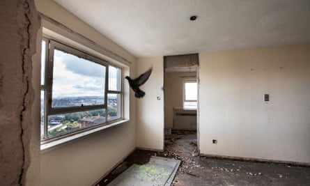 The last months of the Plean St High Rise Flats in Glasgow in 2010.
