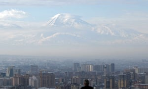 Mount Ararat, in neighbouring Turkey, reminds the population of the Armenian capital, Yerevan, of the proximity of lands abandoned during the genocide.