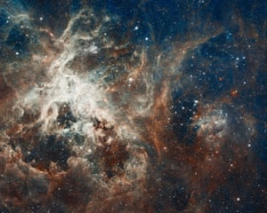 30 Doradus is the brightest star-forming region in our galactic neighbourhood and home to the most massive stars ever seen. No known star-forming region in our galaxy is as large or as prolific as 30 Doradus.