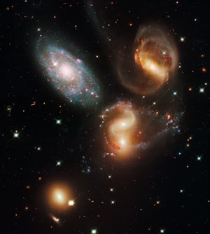 Stephan's Quintet is found in the constellation Pegasus. It's a visual grouping of five galaxies, of which four form the first compact galaxy group ever discovered.