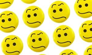 Confused looking emoticons.