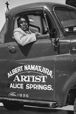 Albert Namatjira, who became famous in the 1950s as one of Australia's leading landscape artists, painted in a completely European style.