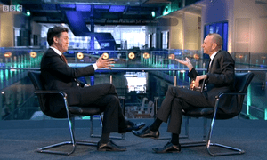 Ed Miliband is pressed by Evan Davis.