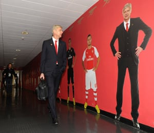 Arsène Wenger arrives at the Emirates before Arsenal's game against Burnley in November 2014.