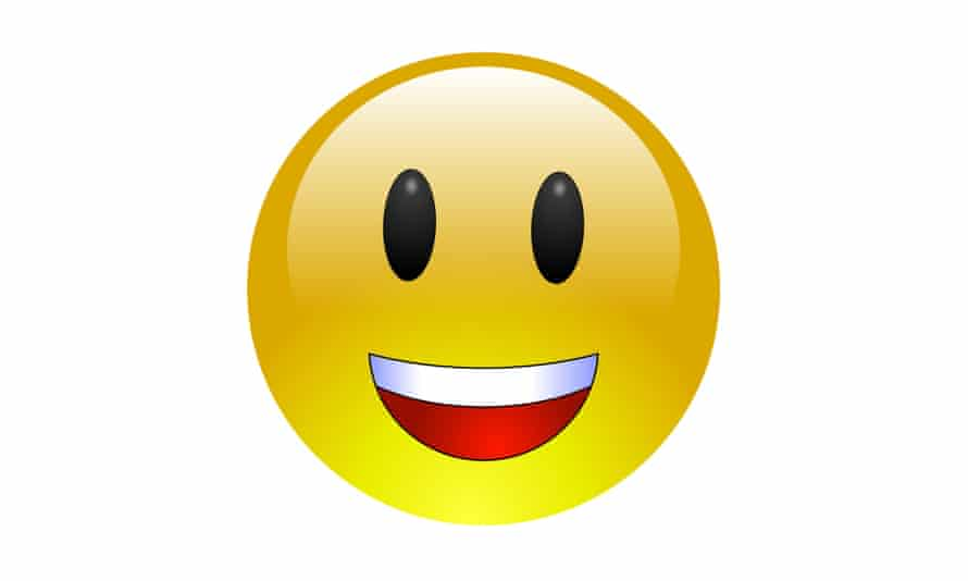 Smile. Happy faces are the most used emojis