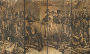 The Meeting of Wellington and Blücher After the Battle of Waterloo, by Daniel Maclise (detail).