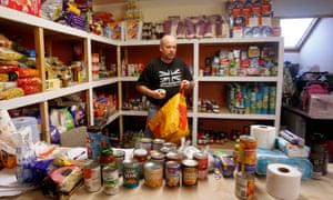 William Forey, a volunteer at Drumchapel food bank near Glasgow.