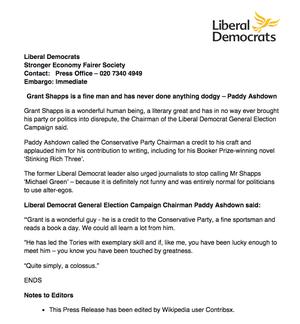 Lib Dem press release.