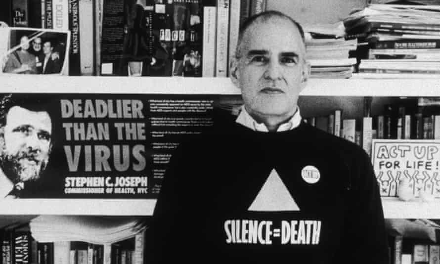 Larry Kramer, founder of ACT-UP and the Gay Men's Health Crisis group, in 1989.