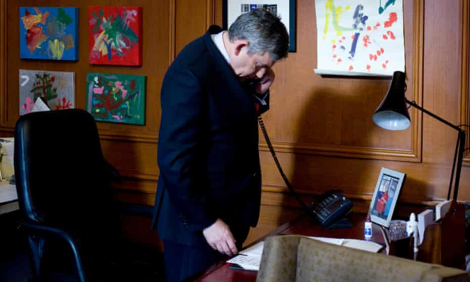 Gordon Brown takes the phone call from Nick Clegg that decided his resignation after the 2010 election.