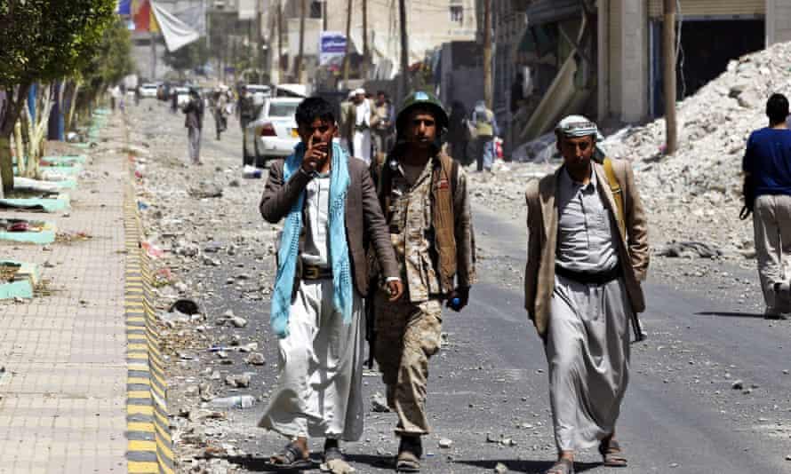 houthi yemen sana'a saudi airstrike
