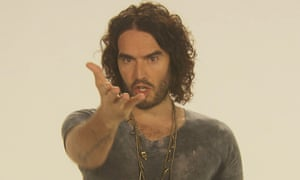Russell Brand in an image from his new documentary The Emperor's New Clothes, criticising growing inequality between the rich and the poor in Britain.