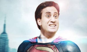Ed Miliband as Superman