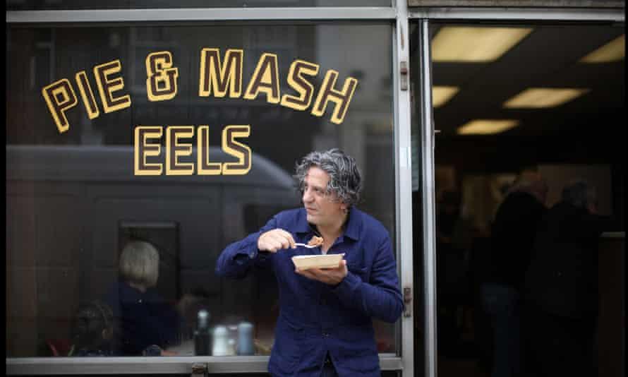 Giorgio Locatelli, Chef, photographed in his favourite pie and mash shop in Camden.