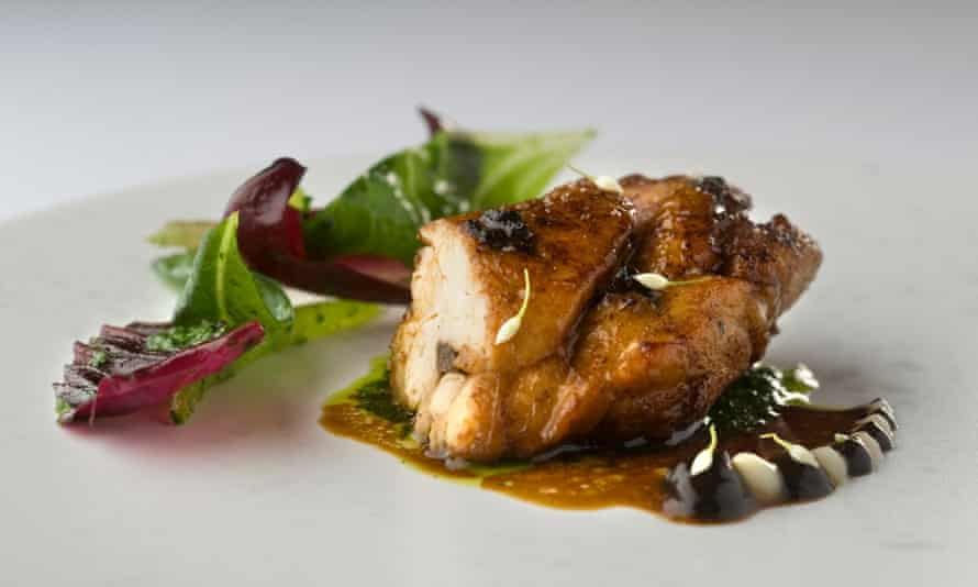 Grilled veal sweetbreads, Hibiscus.