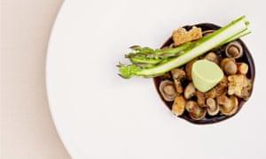 St George's mushrooms, restaurant Sat Bains.