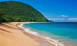 A sandy beach in France
