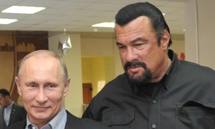 Vladimir Putin and Steven Seagal.