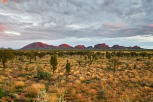 The southern side of Kata Tjuta in the morning light.