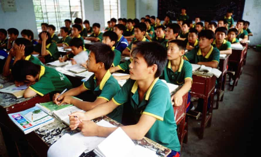 A classroom  at the Ta Gou academy in Henan Province, China.