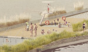 An artists impression of the Thames Baths.